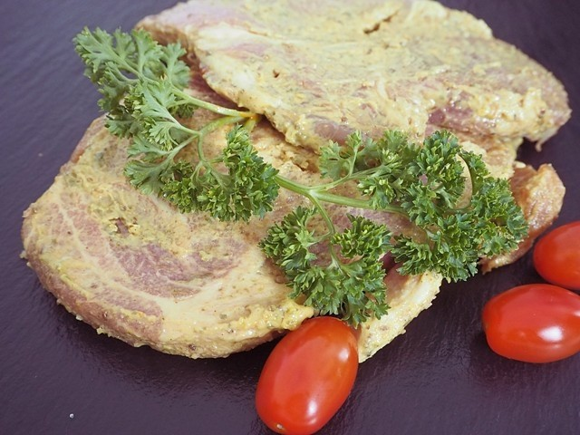 Steak in Bier-Senf Marinade